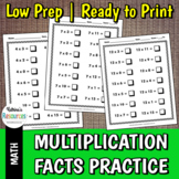 Multiplication Facts Practice for Elementary Math