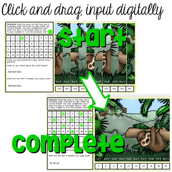Multiplication Facts Puzzles - Digital