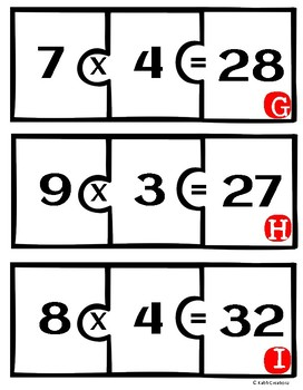 Multiplication Facts Puzzles/Word Problems