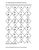 Multiplication Facts Puzzles to Help Algebra Factoring Skills Color Sheets