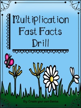 Multiplication Facts Quick practice/drill worksheets