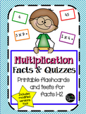 Multiplication Facts & Quizzes (Modified included!)