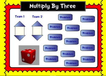 Multiplication Facts Race Game SMART Notebook Lesson