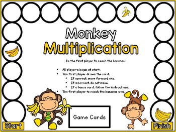 Multiplication Facts - Review 0-4  Printable Game