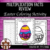 Multiplication Facts Review Easter Coloring Activity