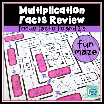 Multiplication Facts Review Maze 1s & 2s