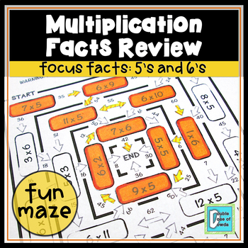 Multiplication Facts Review Maze 5s & 6s