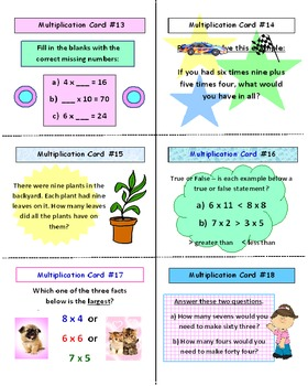 Multiplication Facts SCOOT Game (Cards, Grid, Complete Lesson Plan)