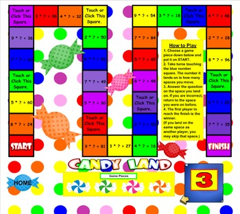 Multiplication Facts SMART BOARD Games