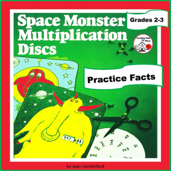 SPACE MONSTER MULTIPLICATION | Math FACTS | COLOR | Activity | DISCS | Gr. 2-3