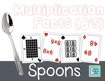 Multiplication Facts SPOONS - 8's