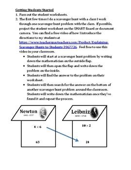 Multiplication Facts Scavenger Hunt Game