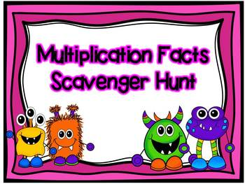 "Multiplication Facts Scavenger Hunt/ ""I Have, Who Has"""
