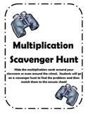 Multiplication Facts Scavenger Hunt