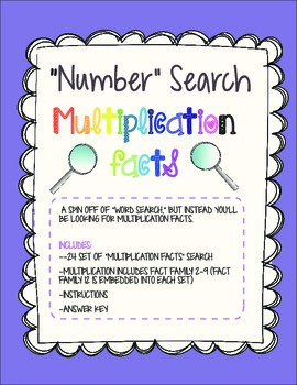 Multiplication Facts-Search