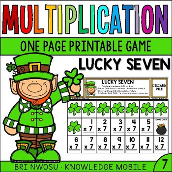 Multiplication Facts -  Seven Printable Game