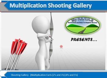 Multiplication Facts Shooting Gallery 2's, 3's, 4's, and 5's