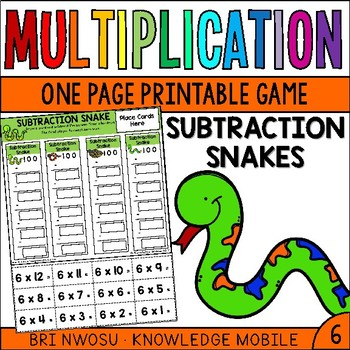 Multiplication Facts - Six Printable Game
