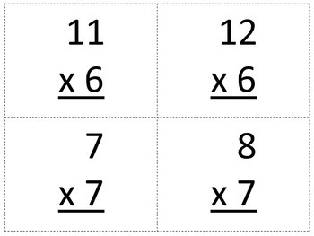 Multiplication Facts Snowball Fight Game