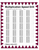 Multiplication Facts Speed Drill