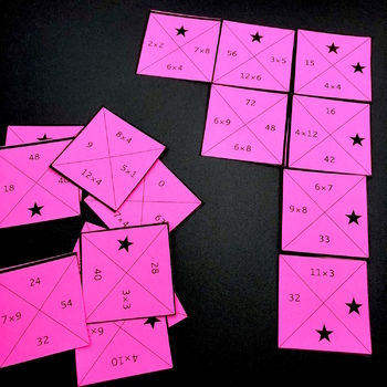 Multiplication Facts Square Puzzles