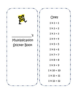 Multiplication Facts Sticker Book