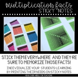 Multiplication Facts Sticky Notes