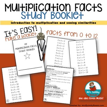 Multiplication Facts Study Guide - Booklet - Math Practice