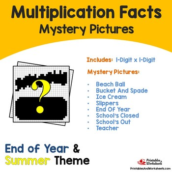 Multiplication Facts - Summer, End of Year