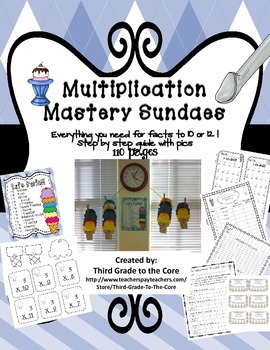 Multiplication Mastery - Facts for Sundaes
