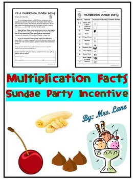 Multiplication Facts Sundae Party Incentive