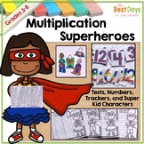 Multiplication Facts Superheroes Student Mastery Tracking System