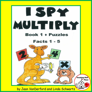 I SPY MULTIPLY | REVIEW Multiplication 1-5 Facts | PUZZLES