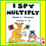 I SPY MULTIPLY | REVIEW Multiplication 1-5 Facts | PUZZLES | CORE | Gr 2 MATH