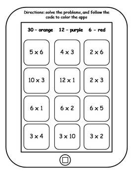 Multiplication Facts Tablet Activities
