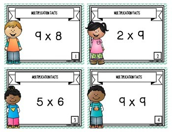 Multiplication Facts {Task Cards}