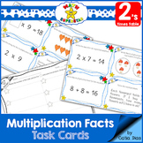Multiplication Facts Task Cards - 2's times table
