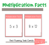 Multiplication Fact Fluency Task Cards