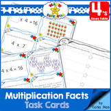 Multiplication Facts Task Cards - 4's times table