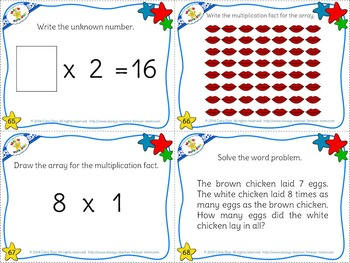 Multiplication Facts Task Cards - 8's times table