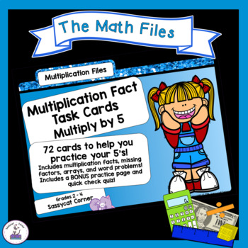 Multiplication Facts Task Cards - Five Times Tables