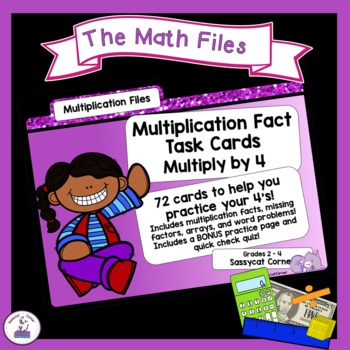 Multiplication Facts Task Cards - Four Times Tables