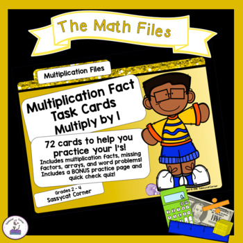 Multiplication Facts Task Cards - Ones Times Tables