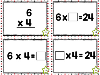 Multiplication Facts Task Cards - Six Times Tables