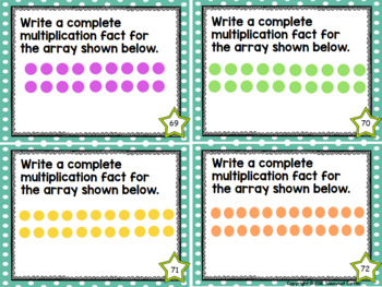 Multiplication Facts Task Cards - Two Times Tables