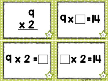 Multiplication Facts Task Cards - Nines Times Tables