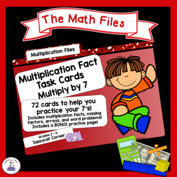 Multiplication Facts Task Cards - Sevens Times Tables