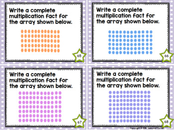Multiplication Facts Task Cards - Twelves Times Tables