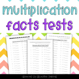 Multiplication Facts Tests