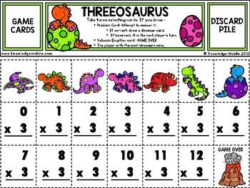Multiplication Facts - ThreePrintable Game